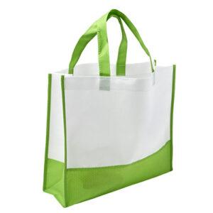 bolsa bicolor con asas cortas