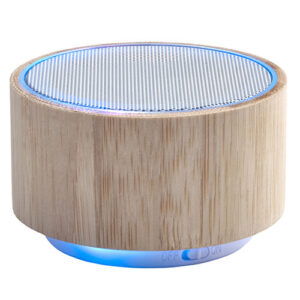 altavoz inalambrico de bambu