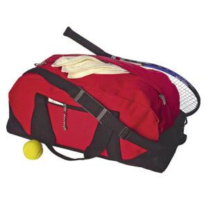 bolsa de deporte con bolsillo central