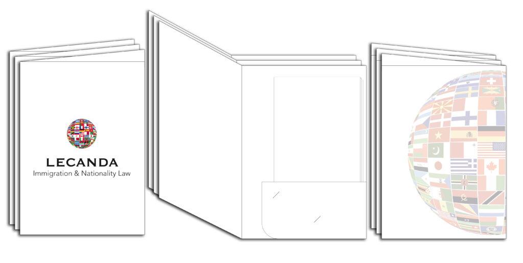 carpeta con solapa imprenta